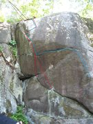 Rock Climbing Photo: blue line