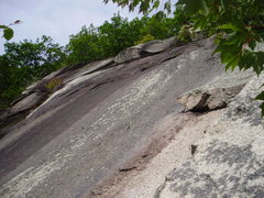Rock Climbing Photo: The lonely 1/4 inch bolt.