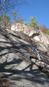 Rock Climbing Photo: Craig Taylor checking out the crux of pitch one. M...