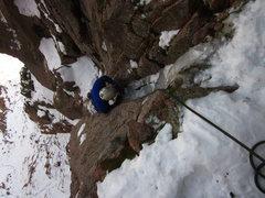 "Rock Climbing Photo: Mixed climbing on ""Toga Party""."