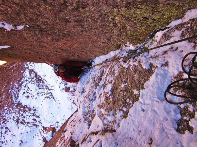 Rock Climbing Photo: Mixed on the Peak.