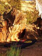 Rock Climbing Photo: Warsaw Boulder's west face.