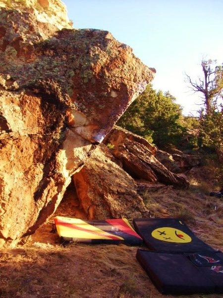 Rock Climbing Photo: Warsaw Boulder overhang.