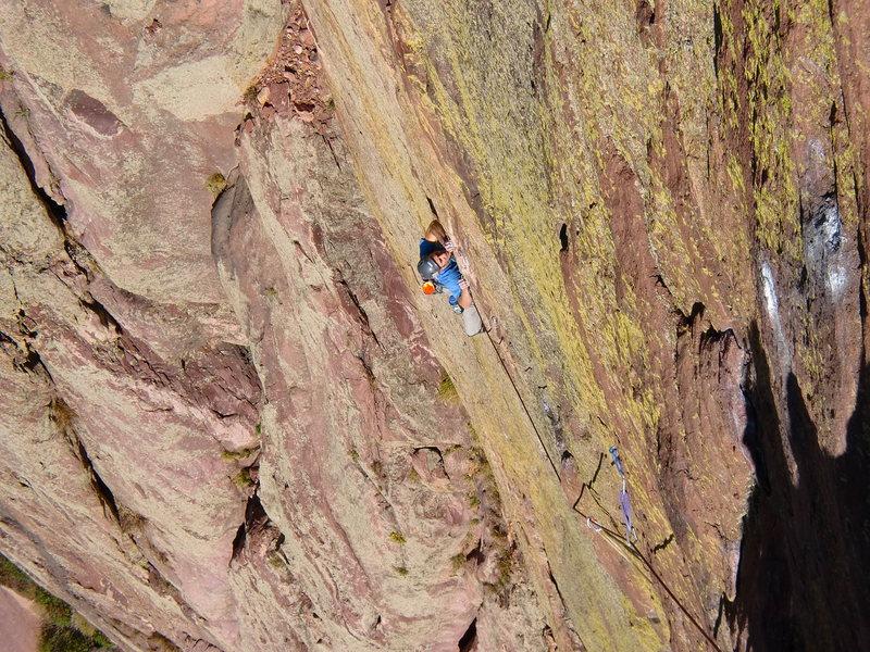 Rock Climbing Photo: Ryan crushing the finishing crux.