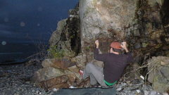 Rock Climbing Photo: The Scott monster does a little night climbing on ...