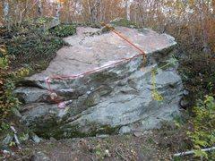 Rock Climbing Photo: Red: The End Of The Beginning Orange: Buckhorn Bra...