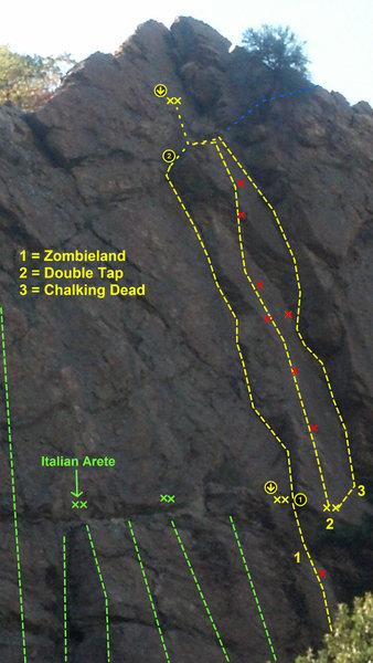 Rock Climbing Photo: A view of the Zombie Corners, Salt Lake Slips