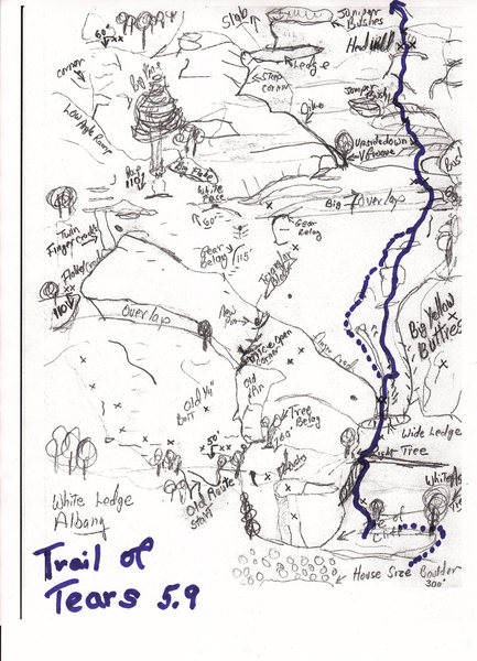 Rock Climbing Photo: Topo of Trail of Tears