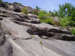 Rock Climbing Photo: Illusion of Prosperity pulls the big overlap (5.10...