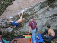 Rock Climbing Photo: Kyle workin betas.
