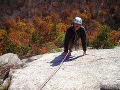 "Rock Climbing Photo: Matt Peer enjoying the sun at the top of ""Out..."