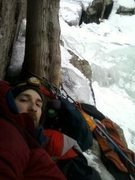 Rock Climbing Photo: Camping out at the top of P1 on Multi Gully