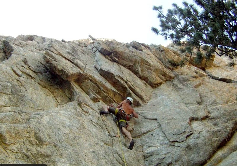 Rock Climbing Photo: The start of Sleepless in Boulder.