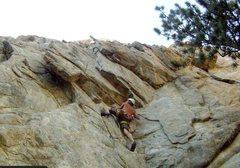 Rock Climbing Photo: The start of Sleepless in Boulder.