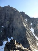 Rock Climbing Photo: The South Buttress of Adamant, seen from the North...