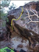 Rock Climbing Photo: Shows the slab section of Minnesota Nice.