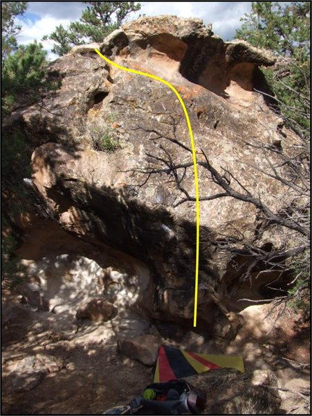 Seven Minute Itch problem on Matriculant Boulder.
