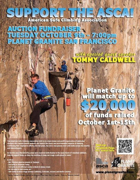 ASCA Fundraiser at Planet Granite October 9th 2012.