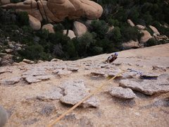 Rock Climbing Photo: Jay at the first belay station.