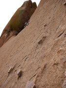 Rock Climbing Photo: Jay on the 3rd pitch traverse.  Highly recommend g...