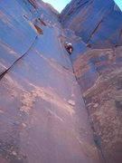 Rock Climbing Photo: DG sewing it up.