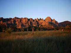 Rock Climbing Photo: Beautiful area.  Sunset on the West Stronghold.
