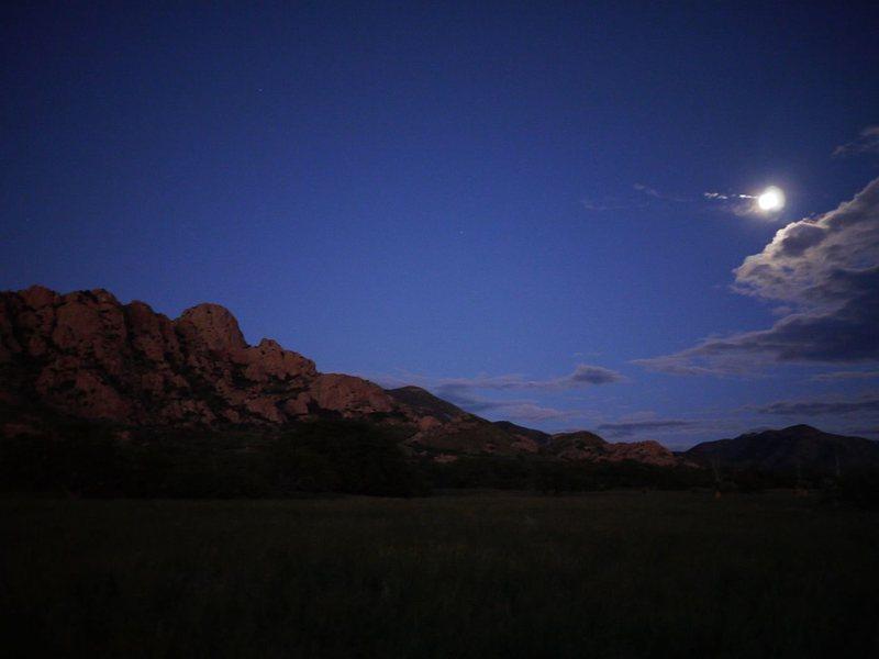 Rock Climbing Photo: Sheepshead under a full moonlight.