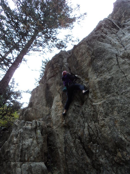 Deb in the crux section.
