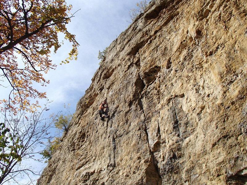 Rock Climbing Photo: More crux