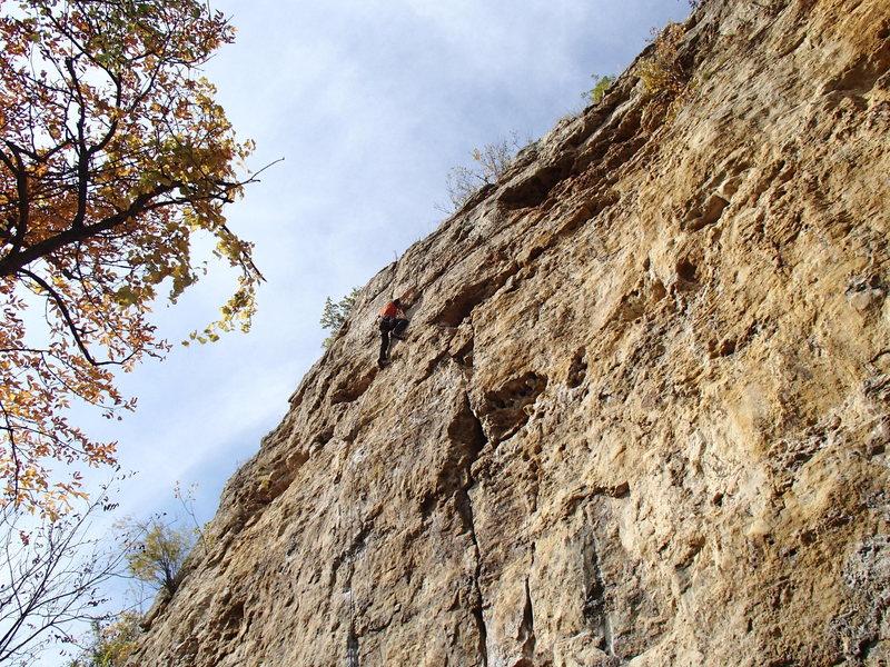 Rock Climbing Photo: Hang on till the end.