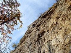 Rock Climbing Photo: Watching Kris doesn't help, he makes it look easy.