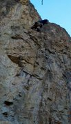 Rock Climbing Photo: Chris Bellizzi heading up Ape Arms