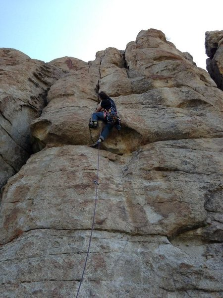 Rock Climbing Photo: pulling the crux, two good finger locks going in t...