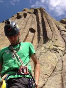 Rock Climbing Photo: Matt G. Standing at the base of the Leaning Column...