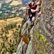 Rock Climbing Photo: Pulling the jump treverse.  The most fun you can h...