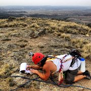 Rock Climbing Photo: Gotta sign that log book!  I wish I would have fli...