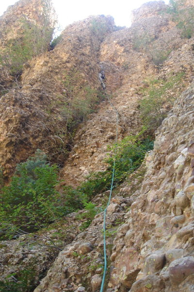 Rock Climbing Photo: Leading up to the notch on the east side of the pi...