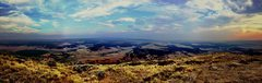 Rock Climbing Photo: Panoramic view from the summit just before sunset.