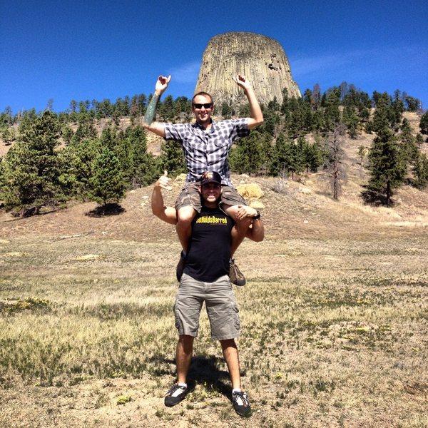 Rock Climbing Photo: Matt and I celebrating our succesful climb of the ...