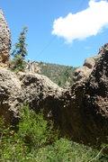 Rock Climbing Photo: George Bracksieck standing on the higher (west) en...
