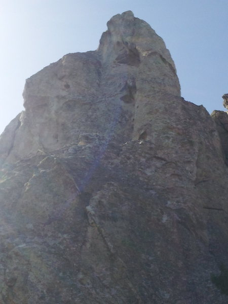 Rock Climbing Photo: The route goes up the right side, viewed from the ...