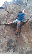 Rock Climbing Photo: up on the hill fun crack boulder