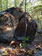 Rock Climbing Photo: Boulder closest to trail, most downhill of the den