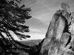 Rock Climbing Photo: San Gabriels from Arctic Temple gully.