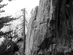Rock Climbing Photo: Steep middle section of the crag.