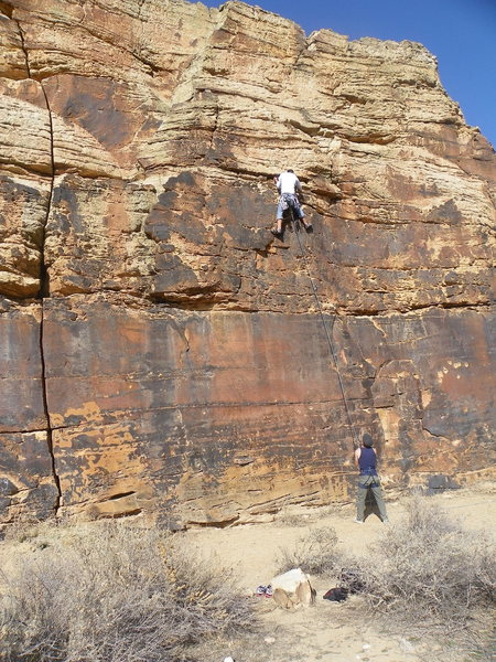 Rock Climbing Photo: Halfway up Rapture.