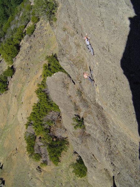 Rock Climbing Photo: Chad Suchoski on the final 4th pitch of Aloha Patr...