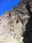 Rock Climbing Photo: Double Agent at Table Rock, MSH.