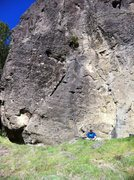 Rock Climbing Photo: Ginormous is the line on the right that the rope i...