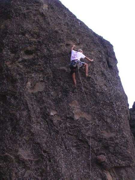 Aaron Rough on Svetlana, Table Rock, MSH.
